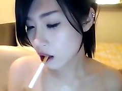 Asian, Smoking, Cute, Real drunken girl stoned, Mylust.com