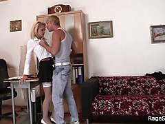 Rough, Office, Rough gangbang, Xhamster.com