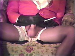 Leather, Gloves, Purple glove and penis pump handjob, Xhamster.com