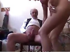 Teen, Old Man, Young girl strap on old man, Pornhub.com