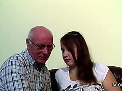 Grandpa, German grandpa makes young girl horny, Xhamster.com