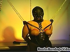 Bondage, Fetish, Leather, Bouncing boobs riding in car, Nuvid.com